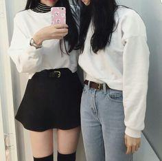 Ulzzangs💕💝 flw me for more💓 korean aesthetic korea girls kstyle koreanstyle koreanmakeup kmakeup chuu innisfree etudehouse korea japan stylelover style kstyles koreanstyle ulzzang ulzzangstyle ootd outfit blue kmakeup kpop otaku anime anime animy 한국스타일 Style Ulzzang, Ulzzang Fashion, Kpop Fashion, Girl Fashion, Fashion Looks, Fashion Outfits, Style Fashion, Indie Outfits, Korean Outfits