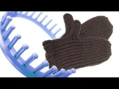 How to make mittens on a round loom - YouTube