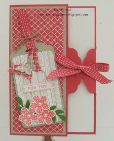 Stampin' Up! UK Demonstrator - Teri Pocock: Petite Petals - Scalloped Tag Card