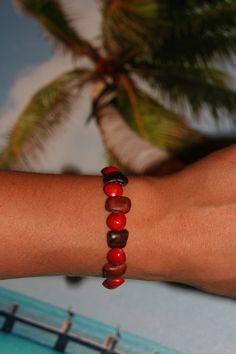 Bijoux en graines Guadeloupe (à l'unité ou en parure) : Bracelet par dcrea