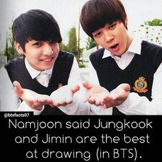 160412 BTS - The Show Idol Drawing Contest via taecypher  I agree. They're hella great at it, I'm jealous ㅋㅋㅋㅋㅋㅋㅋㅋ #JiKook yay! ♡
