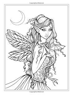 Mystical - A Fantasy Coloring Book: Mystical Creatures For you to Color! Fairy Coloring Pages, Adult Coloring Book Pages, Coloring Books, Colorful Drawings, Colorful Pictures, Mermaid Coloring, To Color, Free Coloring, Dragon