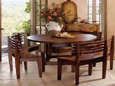 Roundtablebenches  Mesquiteroundtableandbenches800 Amazing Round Dining Room Table Seats 8 Decorating Design