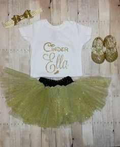 Cinder Ella personalized cinderella babe girl onesie in white and gold $12 Hey, I found this really awesome Etsy listing at https://www.etsy.com/listing/241011433/cinderella-baby-ella-name-white-and-gold