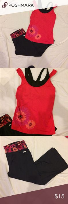 🌻New Listing!🌻 Danskin Yoga Outfit Danskin yoga outfit size medium. Great matching set with good colors and very comfortable. Ship same or next day! Danskin Now Other