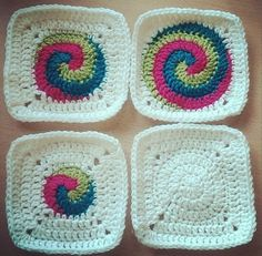 Crochet Designs And Free Patterns: Spiral Granny Square Crochet - Video Tutorial And Pattern