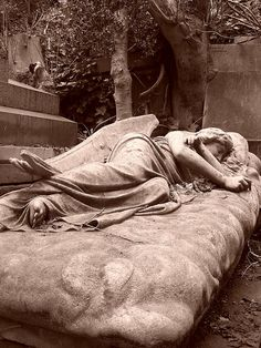 angel is at Highgate Cemetery in London