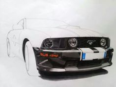 Ford mustang Car Drawings, Designs To Draw, Ford Mustang, Vehicles, Drawings Of Cars, Ford Mustangs, Designs For Drawing, Vehicle