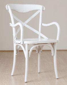Biev  Ahşap Kolçaklı Sandalye - Beyaz 234,99 TL