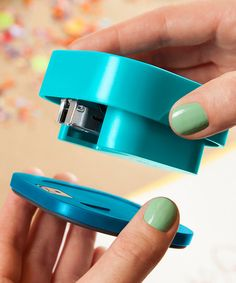 Blue Align Stapler - staple anywhere on the page - I so need one of these!!!