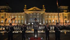 """German soldiers performing """"Großer Zapfenstreich"""" to celebrate the 60th anniversary of rearmament[4769  2760]"""