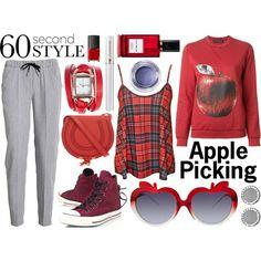 Apple picking by olgutieuse on Polyvore featuring moda, Ostwald Helgason, Nanushka, Converse, Chloé, ZALORA, Warehouse, ASOS, Lancôme and Diana Vreeland Parfums
