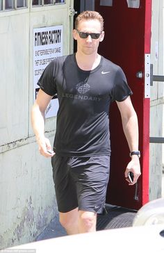 Working up a sweat: The Night Manager star was spotted leaving a gym in Los Angeles on Mon...