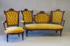 Lot: 0514: Carved Gilt-Incised Walnut Parlor Suite Jelliff, Lot Number: 0514, Starting Bid: $2,600, Auctioneer: Neal Auction Company, Auction: Neal Auction Holiday Estates Auction , Date: December 1st, 2007 EST