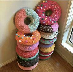 Cojin donuts crochet