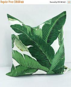 VENTE coussins/couverture de Palm. Green jet coussins/couverture. Couvercle de canapé oreiller décoratif. Palmier vert. Indoor.Outdoor. 18 x 18. Concepteur pillow.cushion c
