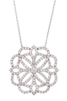 Sterling Silver Pave CZ Snowflake Necklace by Adam Marc on @HauteLook