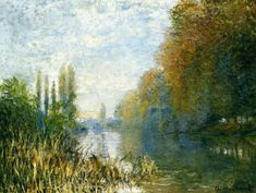 The Banks of The Seine in Autumn, 1876 - Claude Monet - WikiPaintings.org