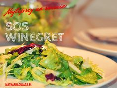 sos winegret, sos vinegret, sos vinegret przepis, vinaigrette, sos do sałaty, dressing, sałata z sosem winegret Salad Dressing, Vinaigrette, Lettuce, Guacamole, Grilling, Salads, Tacos, Vegetables, Ethnic Recipes