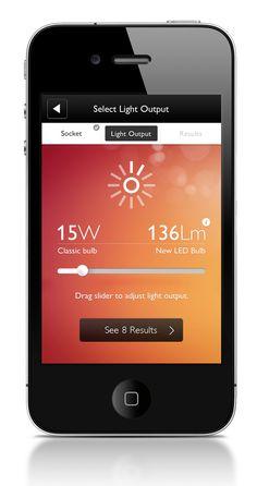 Philips - Bulb Replacement App by Robbin Cenijn, via Behance
