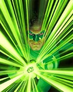Green Lantern by Alex Ross (gave my hubby a signed lith of this image - The framer did a fab job making cuts in the matting to extend the ring's power - really awesome).