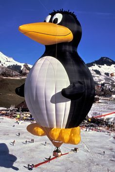 penguin hot air balloon!