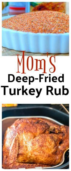 Moms Deep-Fried Turkey Rub is a game changer when it comes to seasoning your holiday turkey. Even if you dont deep fry your turkey try this rub. Its amazing and is the only seasoning I ever use when cooking a turkey. - Deep Fryer - Ideas of Deep Fryer Turkey Rub, Turkey Fryer, Deep Fry Turkey, Frying A Turkey, Turkey Brine, Smoked Turkey, Roasted Turkey, Fried Turkey Injection Recipe, Deep Fried Turkey Recipe