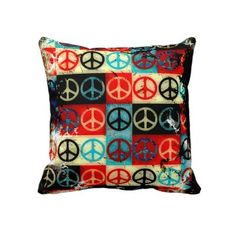 Peace Signs Pillow