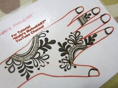 "YouTube easy DIY floral Arabic mehndi henna design tutorial art creation for back hand. Search ""Nidhi's MehndiART"" YouTube channel for all kind of mehndi henna design tutorial. #fashion #jewellery #trend #bridal #bride #wedding #marriage #festival #tradition #beautiful #girl #london #paris #canada #us #india #surat #ahmedabad #uk #arabic #floral #gulf #dubai #henna #mehndi #mehandi #art #drawing #tattoo #design"