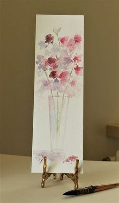 Bookmarks, Lesley is an international mixed media artist, specialising in aviation, automotive, maritime and portraiture works. Watercolor Painting Techniques, Watercolor Projects, Watercolour Painting, Watercolors, Watercolor Bookmarks, Watercolor Cards, Watercolor Flowers, Creative Bookmarks, Korean Painting
