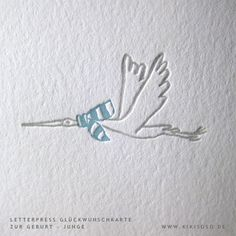 detail of our letterpress baby card for a boy. #glückwunsch_baby_karte #letterpress_babykarte