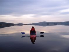 A perfect day for relaxed kayaking on the huge lakes in Lapland ~ Photo by...Love Rynbäck.