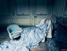 Kirsten Dunst as Marie Antoinette. Vogue, September 2006