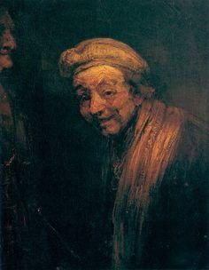 4. D. Rembrandt - autorretrato como Zeuxis. Los mismos pintores hicieron. su propia autoestimación. Rembrandt, dejó constancia de su superioridad artística, autorretratándose como Zeuxis, otro de los grandes pintores de la Antigüedad. En este caso no era el reconocimiento del poderoso lo que se ponía en valor, sino la excelencia de su pintura para alcanzar altas cotas de realismo y de engaño visual. El modelo de la Antigüedad les sirvió para buscar reconocimiento social.