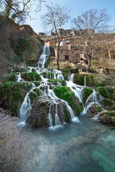 Don't be afraid to explore. Spain is not only tapas, beaches, or Gaudi's architecture. This amazing landscape is hidden in the heart of Spain: Orbaneja Del Castillo - a town in Burgos province -.