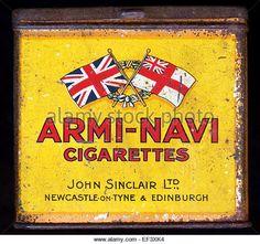 Armi-Navi cigarettes tin, John Sinclair Ltd, Newcastle-on-Tyne & Edinburgh - Stock Image