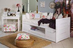 """Καναπές κρεβάτι """"Θέκλα"""" Country Furniture, Bunk Beds, Kids Bedroom, Toddler Bed, Furniture Design, Bench, Indoor, Storage, Kid Rooms"""