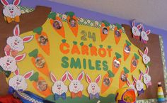 18 Carrot smiles  Lol. This is going to be my spring bulletin board this year.
