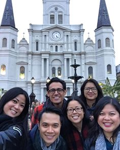 That's St. Louis Cathedral behind us. (Sorry we cut off the top.) It's one of the oldest cathedrals in the U.S. #funfacts #beignetbitches6 #bigeasyfosheezy #NOLA #travel #wanderlust #explore #stlouiscathedral #frenchquarter #lifeofadventure #friends #cathedral #takemetochurch #catholicchurch #vacay #getaway #neworleans #weekend #NOLAgluttons #NOLAviaLeia #church by leiabeth33
