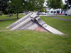 'Former headquarters, Bank of Ozymandias' - folly in Auckland, New Zealand.