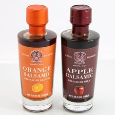 Apple and orange balsamic vinegar duo $44.99