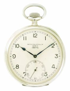 Patek Philippe, Rare Silver Open-Faced Keyless Deck Watch. c.1923