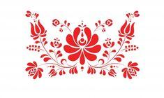 Kalocsai jellegű virágminták falmatrica, Dekoráció, Magyar motívumokkal, Falmatrica, Két egyedi terméket tartalmaz a csomag, a kisebb 50x30cm, a nagyobb 30x230cm.  , Meska