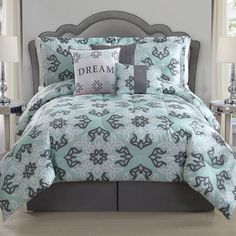 product image for Dream Comforter Set in Mint/Grey