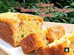 Cheesy Bacon, Corn & Pepper Bread.  For me, I think I'd substitute Bell Peppers with Ortega Chilies.