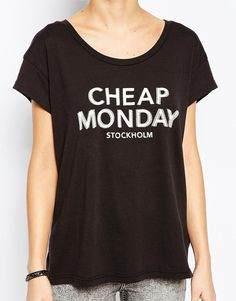 Image 3 ofCheap Monday Have T-Shirt With Double Logo
