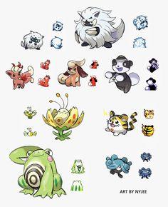 Starter Pokemon Regional Variant 2 by Nyjee on DeviantArt Pokemon Pokedex, Pokemon Oc, Pokemon Pins, Pokemon Images, Pokemon Comics, Pokemon Fan Art, Cool Pokemon, Pokemon Fake, Game Character Design