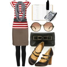 """""""red stripes"""" by tinybochic on Polyvore"""