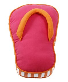 Take a look at this Pink Flip-Flop Pillow I bought at zulily today!