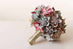 Origami flower bouquet Origami bouquet Paper by LacePearlAndPaper